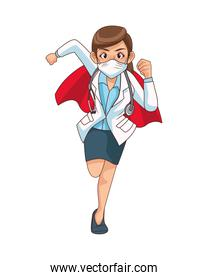 super female doctor runing character