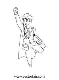 super doctor flying comic character