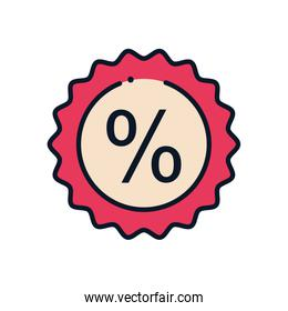 sale stamp line fill style icon vector design
