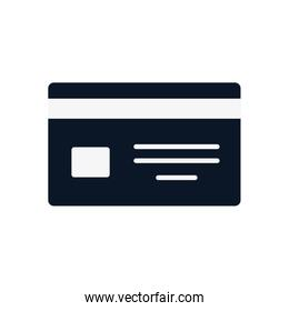 Isolated credit card silhouette style icon vector design
