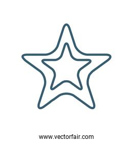 Isolated star line style icon vector design