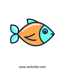 Isolated fish fill style icon vector design