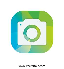 Isolated camera device block flat style icon vector design