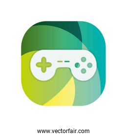 Isolated videogame control block flat style icon vector design