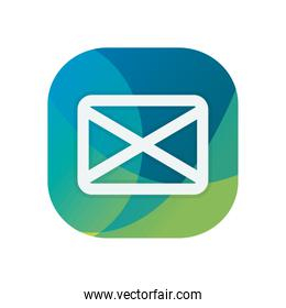 Isolated envelope block flat style icon vector design