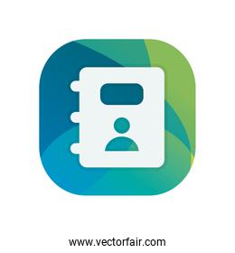Isolated phone book block flat style icon vector design