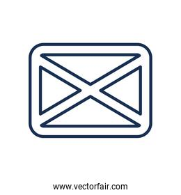 Isolated envelope line style icon vector design