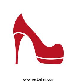 heel shoe accessory isolated icon