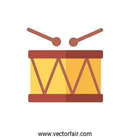 baby drum toy isolated icon desing