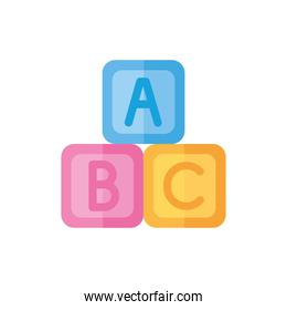 baby cubes toy isolated icon desing