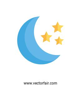 moon night isolated icon desing