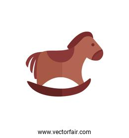 baby rocking horse toy isolated icon desing
