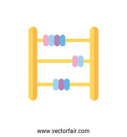 baby abacus toy isolated icon desing