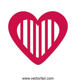 simple heart isolated icon desing