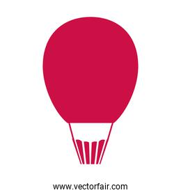 romantic hot air balloon isolated icon desing