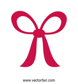 romantic gift bow isolated icon desing