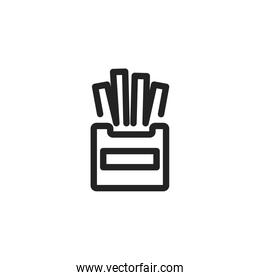 Isolated french fries icon vector illustration