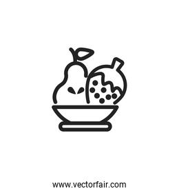 Isolated pear and strawberry icon vector design
