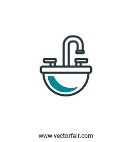 Isolated water tap icon fill vector design