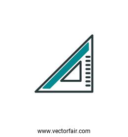 Isolated construction ruler icon fill vector design