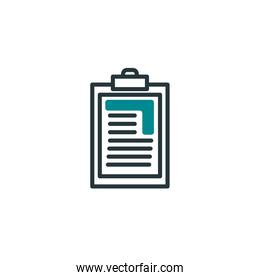 Isolated document icon fill vector design