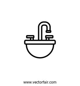 Isolated water tap icon linevector design