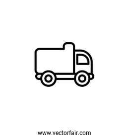 Isolated construction truck icon line vector design