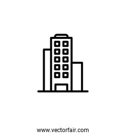 Isolated construction building icon line vector design