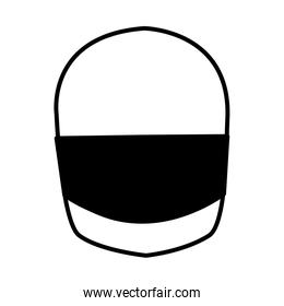 Isolated motorcycle helmet vector design