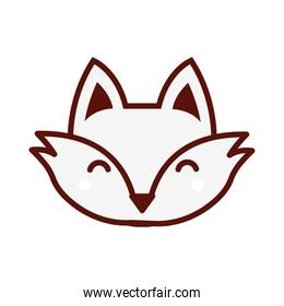 cute little fox animal character