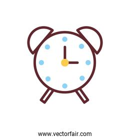 alarm time clock isolated icon