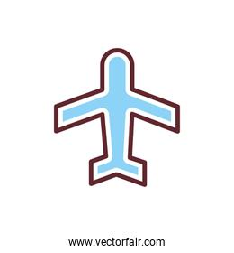 airplane flying silhouette isolated icon