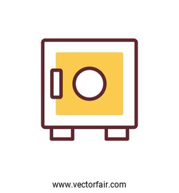 safe box service isolated icon