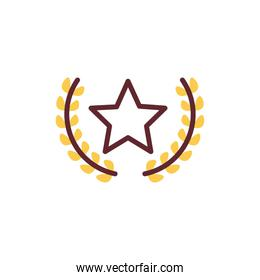 star with crown isolated icon