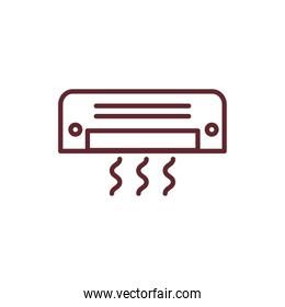 air conditioning appliance isolated icon