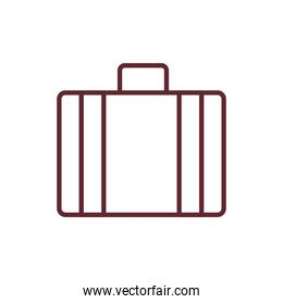 suitcase travel accessory isolated icon