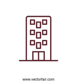 hotel building front facade isolated icon