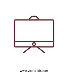 tv appliance house isolated icon