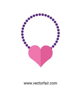 happy valentines day necklace with heart