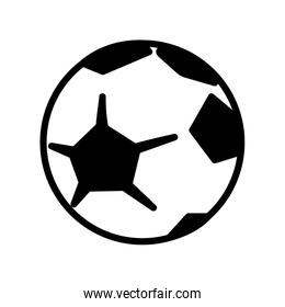 Isolated soccer ball vector design
