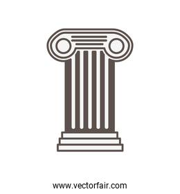 architecture column style isolated icon