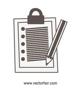 checklist clipboard document with pencil