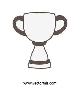 trophy cup award gray color icon