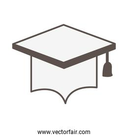graduation hat accessory isolated icon