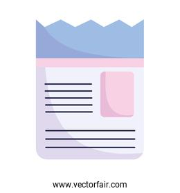 paper document information sheet text letter icon