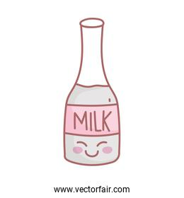 milk bottle character menu restaurant cartoon food cute