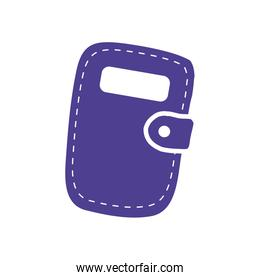 purple diary notebook school supply isolated icon