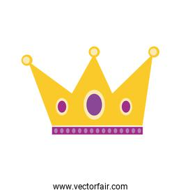 queen crown royal isolated icon