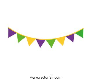 party garlands hanging isolated icon