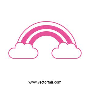 cute rainbow weather isolated icon